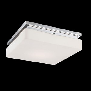 Ellsworth Chrome 11.5-Inch Wide LED Flush Mount with Opal White Glass