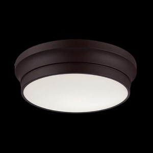 Jane Bronze 12-Inch Wide LED Flush Mount with Opal White Glass