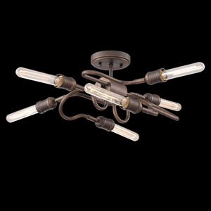 Briggs Oil Rubbed Bronze Six-Light Semi-Flush Mount