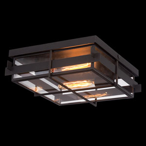 Muller Bronze Two-Light Flush Mount