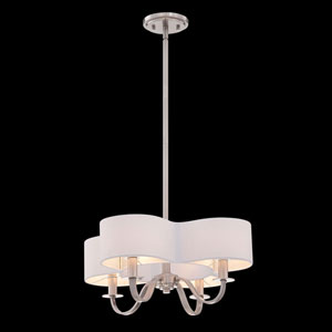 Bertucci Satin Nickel Four-Light Chandelier