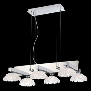 Caramico Chrome 21-Inch Six-Light Chandelier