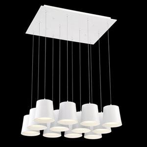 Borto White LED Mini Pendant