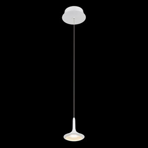 Knoll Matte White LED Mini Pendant
