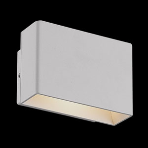 Vello Light Grey LED Outdoor Wall Sconce
