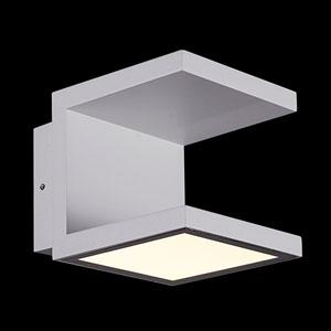 Rail Light Grey 120-Light LED Outdoor Wall Sconce