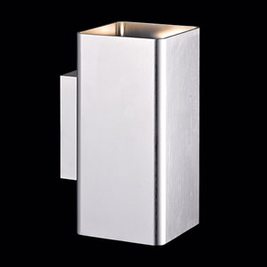 Lungo Brushed Aluminum LED Outdoor Wall Sconce