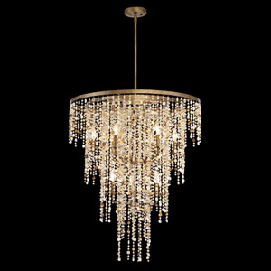Savannah Gilded Imperial Silver Nine-Light Chandelier