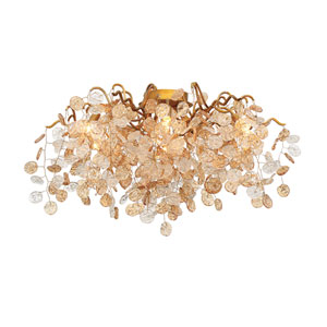 Campobasso Gold Seven-Light Flushmount