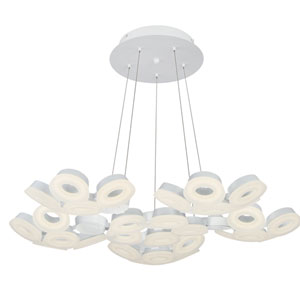 Glendale White LED 30-Light Chandelier