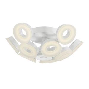 Glendale White LED 10-Light Flushmount