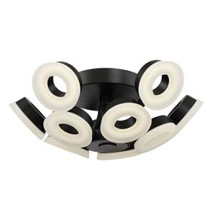 Glendale Black LED 10-Light Flushmount