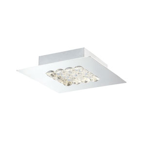 Denso Chrome LED 8-Inch One-Light Flushmount