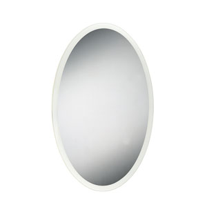 LED 35 x 23-Inch Edge Lit Oval Vanity Mirror