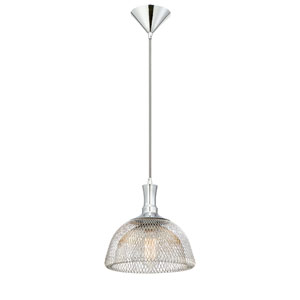 Filo Chrome 10-Inch One-Light Pendant