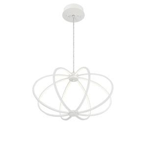 Leggero White LED Eight-Light Pendant