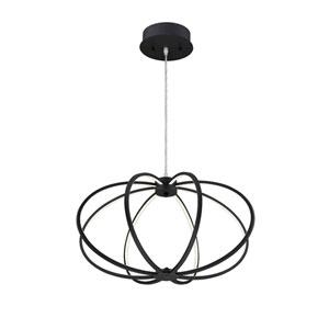 Leggero Black LED Eight-Light Pendant