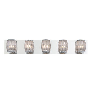 Barile Chrome Five-Light Bath Light