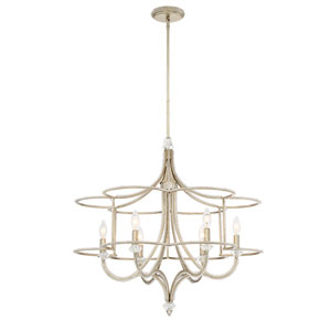 Palmisano Silver 29-Inch Six-Light Chandelier