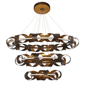 Banderia Bronze LED Three-Light Chandelier