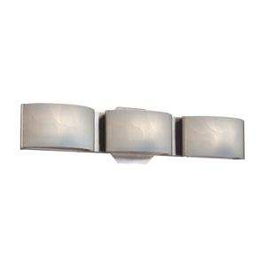 Dakota Chrome LED Three-Light Bath Light