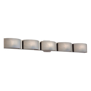 Dakota Chrome LED Five-Light Bath Light