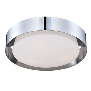 Saturn Chrome LED One-Light Flushmount