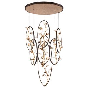 Peralta Gold Seven-Light LED Pendant