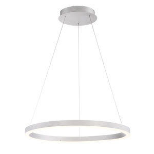 Spunto Silver 28-Inch LED Pendant