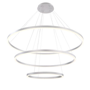 Spunto Silver Three-Light LED Pendant