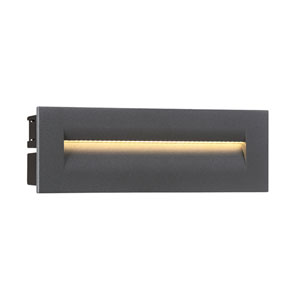 Graphite Grey 10-Inch LED Outdoor In-Wall Light