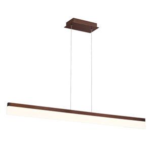 Tunnel Bronze LED Linear Pendant