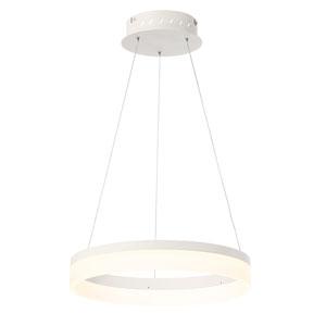 Minuta Sand White 17-Inch LED Pendant