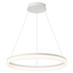 Minuta Sand White 32-Inch LED Pendant