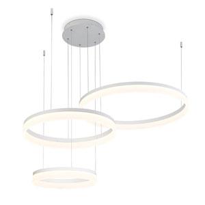 Minuta Sand White Three-Tier LED Chandelier