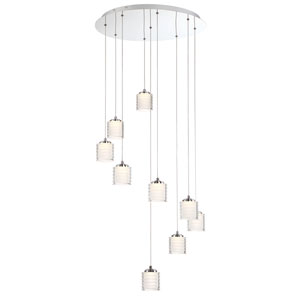 Ancona Chrome Nine-Light LED Pendant