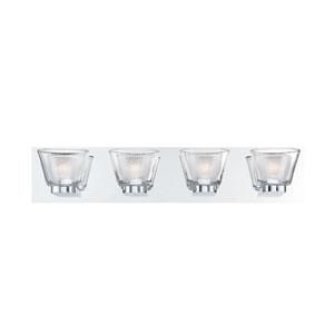 Trent Chrome Four-Light LED Bath Vanity