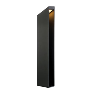 Graphite Grey Three-Light LED Outdoor Bollard
