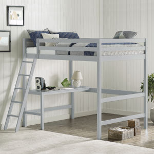Caspian Gray Full Loft Bed