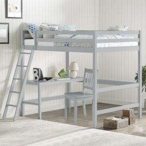 Caspian Gray Full Loft Bed