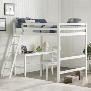 Caspian White Full Loft Bed