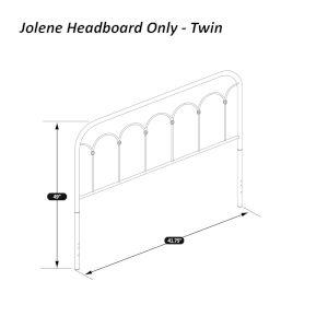 Jolene Textured Black Twin Headboard