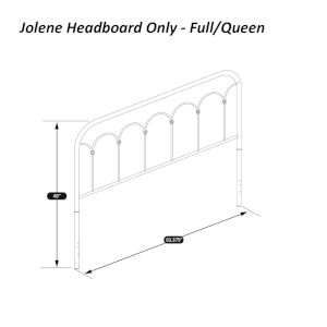 Jolene Textured Black Full and Queen Headboard
