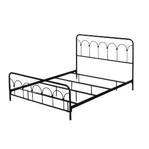 Jolene Textured Black Queen Bed