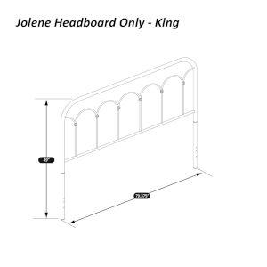 Jolene Textured Black King Headboard