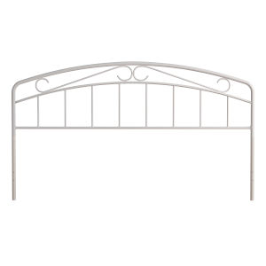 Jolie White 77-Inch Metal King Headboard with Arched Scroll Design
