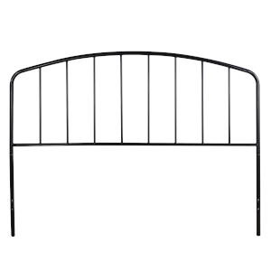 Tolland Black 60-Inch Metal Headboard with Arched Spindle Design