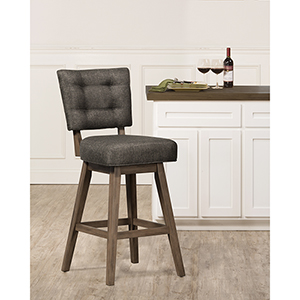 Lanning Weathered Brown 45-Inch Bar Stool