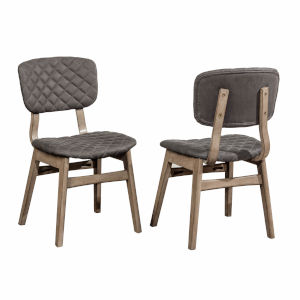 Alden Bay Weathered Gray 23-Inch Dining Chair, Set of 2