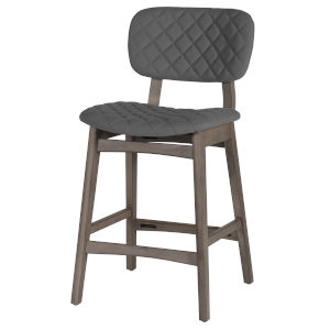 Alden Bay Weathered gray 37-Inch Diamond Stitch Upholstered Counter Height Stool